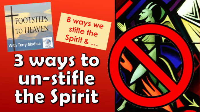 3 ways to un-stifle the Spirit