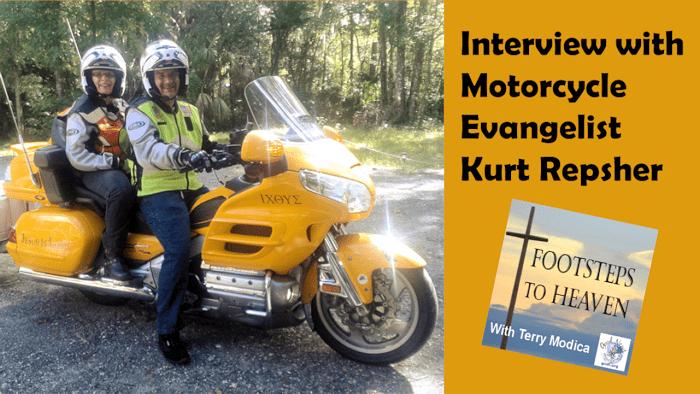Sue & Kurt on their evangelizing motorcycle
