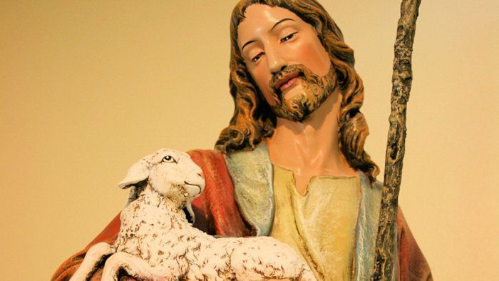Jesus carries you, his little lamb